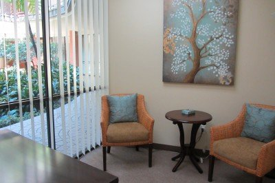 "The ""Session Room"" provides a beautiful atrium view and serene setting"