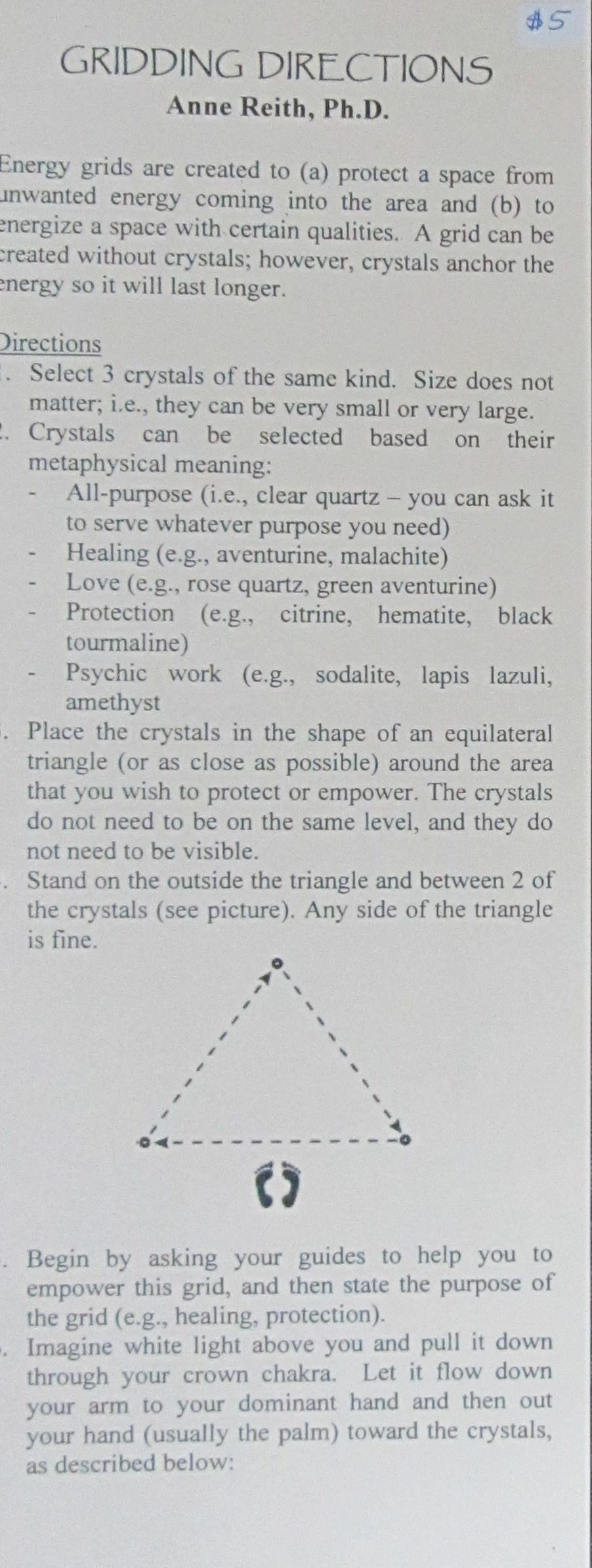 Gridding Directions (Side 1)
